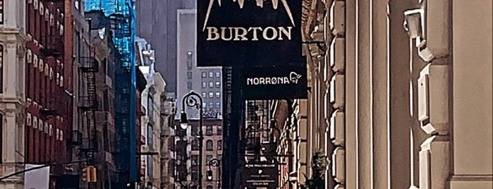 Burton is one of Bags in NY.