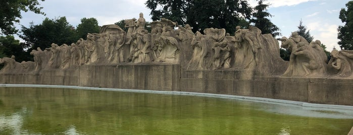 """Lorado Taft's """"Fountain of Time"""" is one of Illinois's Greatest Places AIA."""