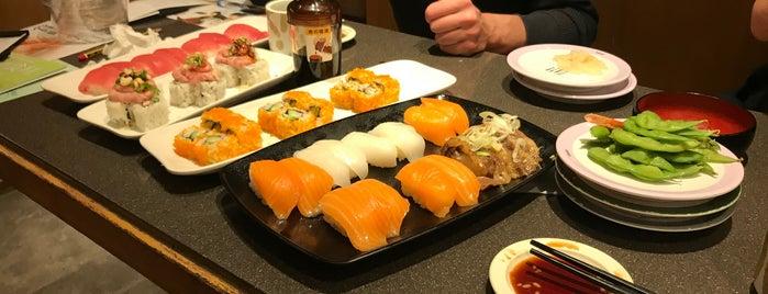 Genki Sushi is one of Hong Kong + Macau.