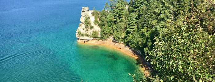 Pictured Rocks National Lakeshore Visitor Center is one of Michigan.