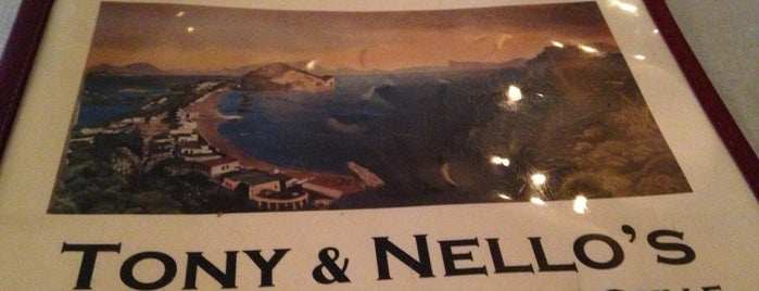Tony & Nello's is one of St. Pete Beach.