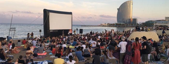 Cinema Lliure A La Platja (cada dijous d'estiu al vespre) is one of Barcelona Other.