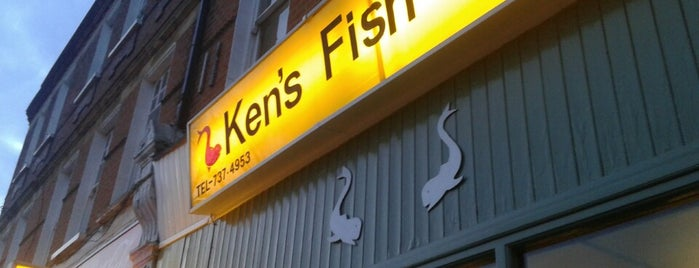 Ken's Fish Bar is one of London & Edinburgh.