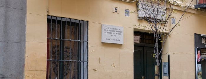 Calle Cervantes is one of El Madrid de Lope de Vega.