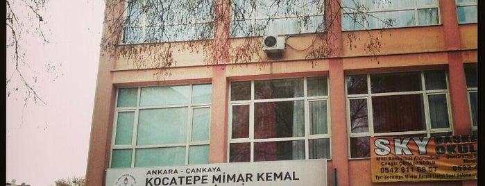 Kocatepe Mimar Kemal Anadolu Lisesi is one of İŞYERLERİ.