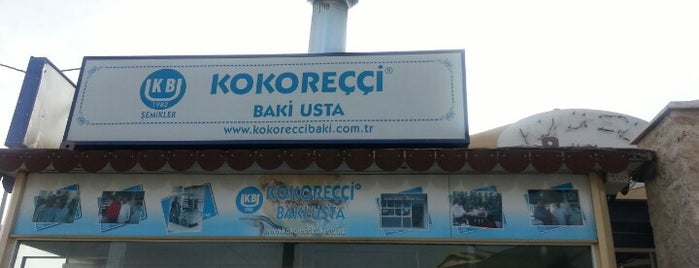 Kokoreççi Baki Usta is one of gidilecek.