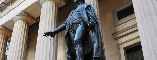 Federal Hall National Memorial is one of Hidden History NYC.