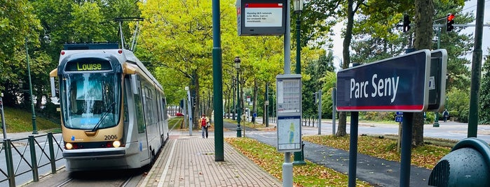 Senypark (MIVB) is one of Belgium / Brussels / Tram / Line 8.