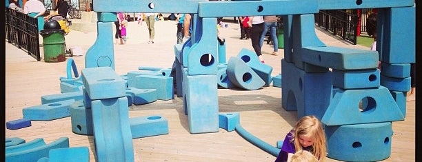 Imagination Playground at Burling Slip is one of NYC Kids.