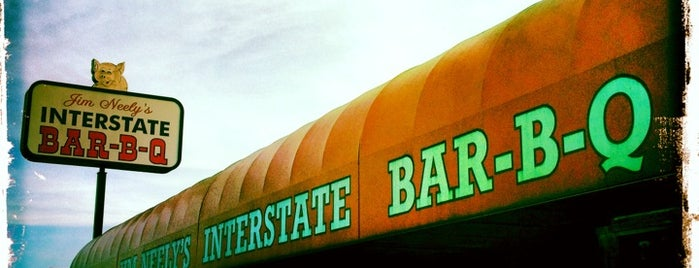 Jim Neely's Interstate Bar-B-Que is one of Restaurants to try.
