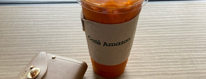 Café Amazon is one of Posti che sono piaciuti a Vee.