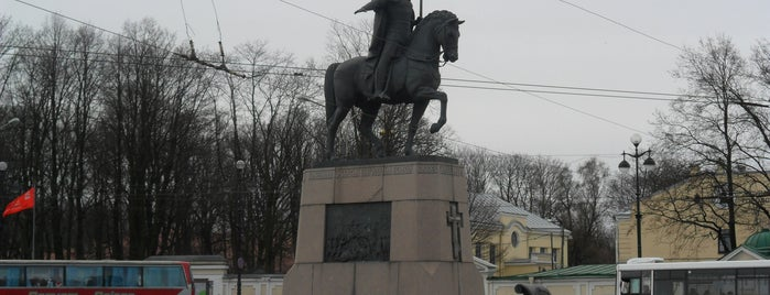 Monument to Alexander Nevsky is one of Санкт-Петербург.