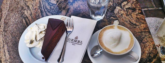Demel – K.u.K. Hofzuckerbäcker is one of Kaffeehäuser.