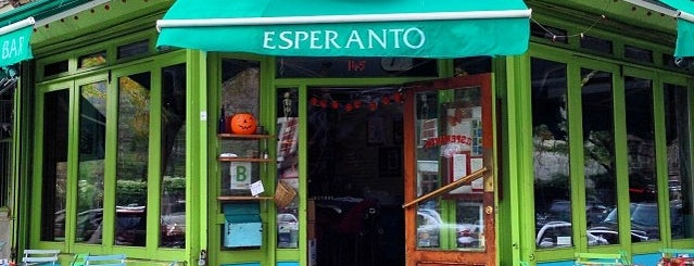 Esperanto is one of Good bar food (NYC).