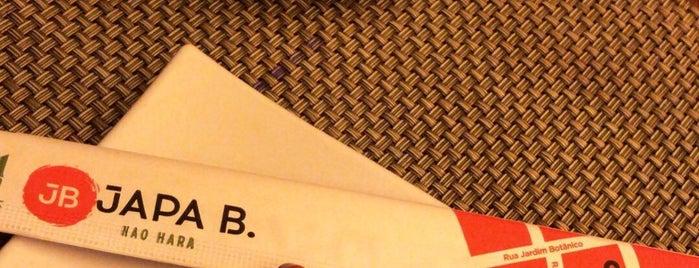 Japa B is one of Melhores Restaurantes e Bares do RJ.