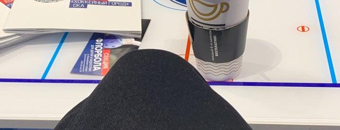 """Многофункциональный Спортивный Комплекс """"Хоккейный Город СКА"""" is one of Posti che sono piaciuti a Николай."""