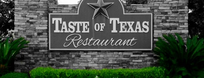 Taste of Texas is one of Locais salvos de Queen.