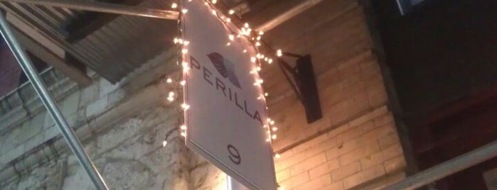 Perilla is one of Valentine's Day Diners Your Girlfriend Will Love.
