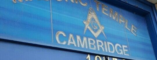 Cambridge Masonic Building is one of Massachusetts Masonic Lodges.