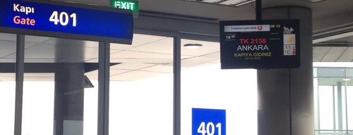 Gate 401 is one of İstanbul Atatürk Airport.