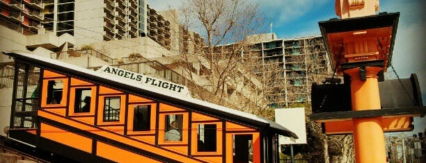 Angels Flight Railway is one of LA Favorite Places.