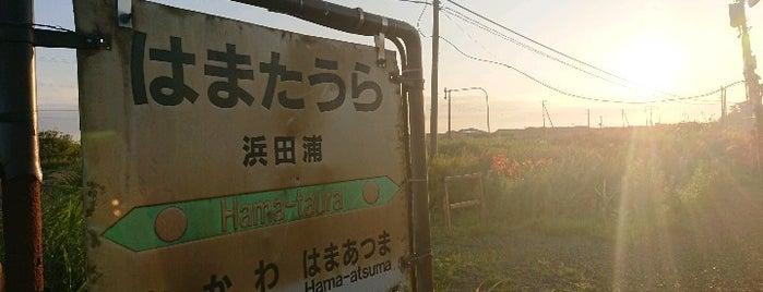 浜田浦駅 is one of JR 홋카이도역 (JR 北海道地方の駅).