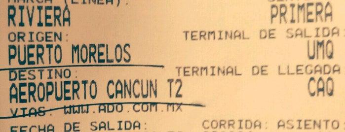 Terminal de Autobuses ADO is one of Puerto Morelos.