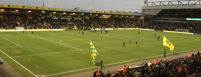 Carrow Road is one of Stadiums.