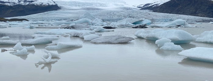 Fjallsárlón Glacier Lagoon is one of Iceland.