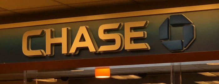 Chase Bank is one of Usual spots.