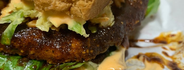 Bubbie's Plant Burgers is one of DC Vegetarian.