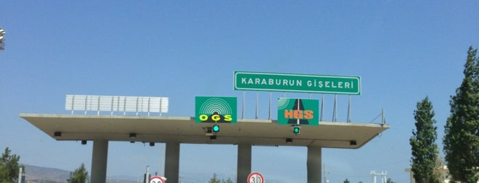 Karaburun Gişeler is one of İzmir - Çeşme Otoyolu.
