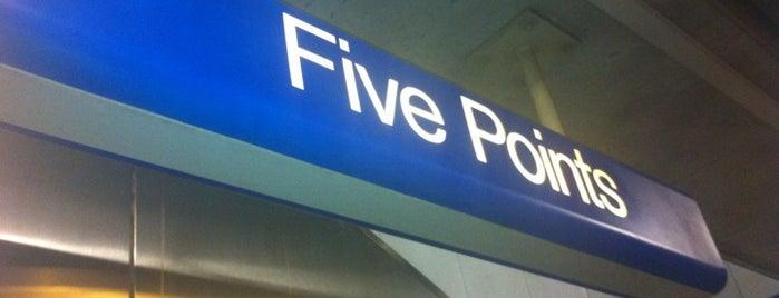 MARTA - Five Points Station is one of Gespeicherte Orte von Teej.