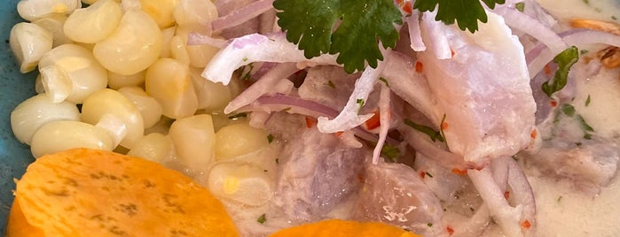 Barrio Ceviche Seafood Kitchen is one of Agos 님이 저장한 장소.