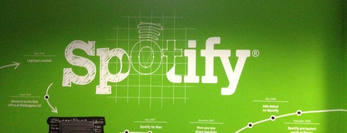 Spotify is one of Spotify spots  #lifeatSpotify.