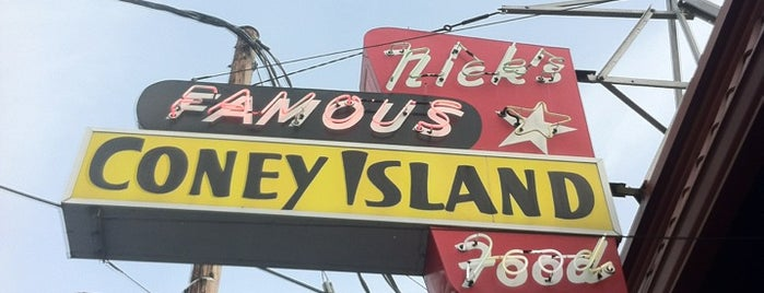 Nick's Famous Coney Island is one of Portland Signs.