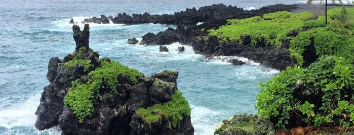 Wai'ānapanapa State Park is one of Maui.