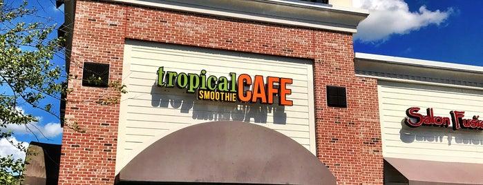 Tropical Smoothie Cafe is one of Tempat yang Disukai David.