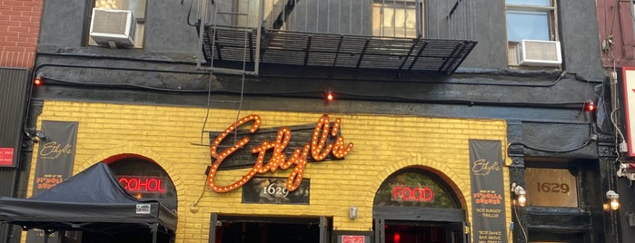 Ethyl's Alcohol & Food is one of NYC Notable Burgers.