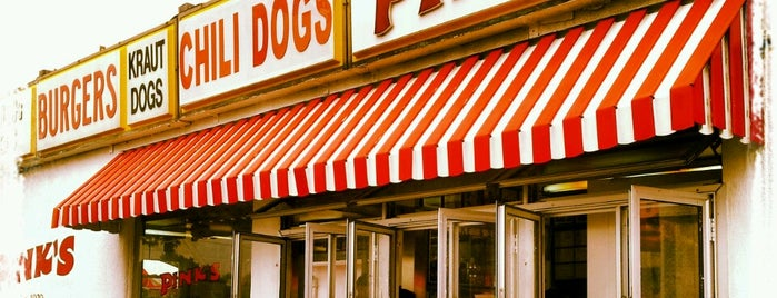 Pink's Hot Dogs is one of Alicia's Top 200 Places Conquered & <3.