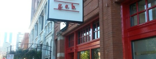 g.e.b. is one of Restaurants To Try.