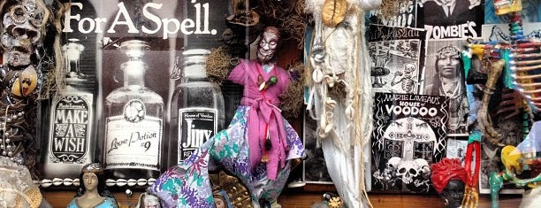Reverend Zombie's Voodoo Shop is one of Louisiana.