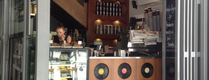 Cafe Vinyl is one of Perth city coffee stops.