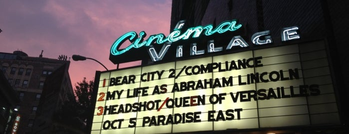 Cinema Village is one of NY.