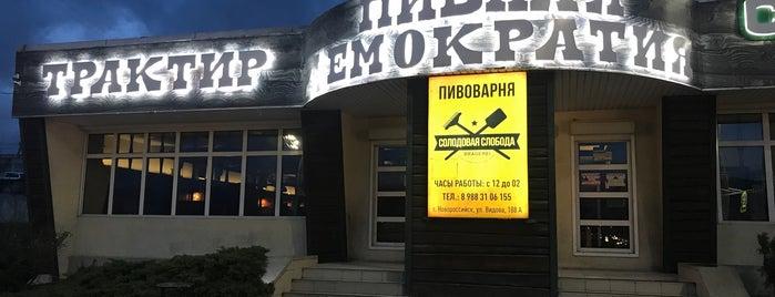 Пивная демократия is one of Novorossiysk.