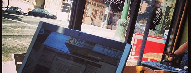 Cup-A-Joe Coffee House is one of Laptop-friendly cafés in SF.