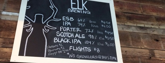 Elk Brewing Company is one of Great Breweries (mainly microbreweries).