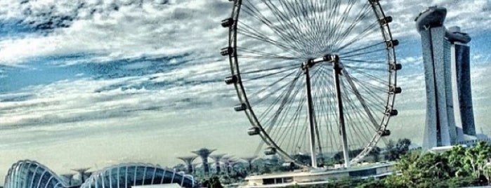 The Singapore Flyer is one of Sing-a-pore.