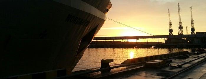 Klaipėdos uostas | Port of Klaipėda is one of Дорога Спб - Калининград.