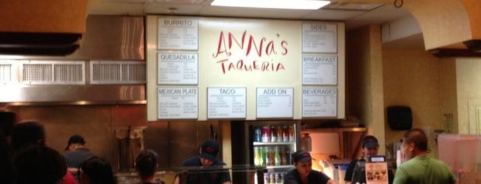 Anna's Taqueria is one of Locais curtidos por Chris.